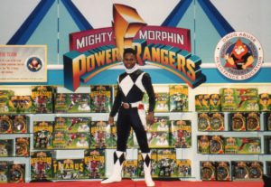 Walter E Jones as Zack Taylor, the black Power Ranger
